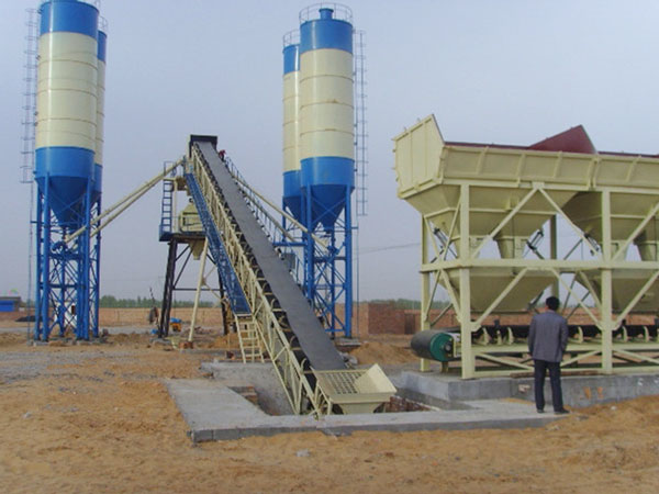AJ90 belt type concrete batching plant