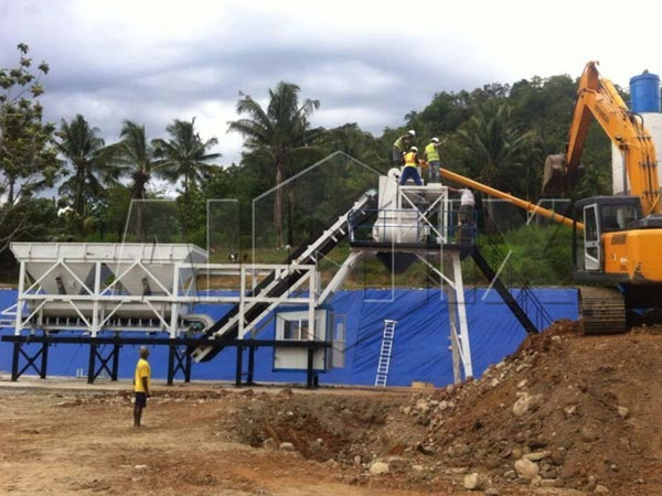 AJY25 mini concrete batch plant for sale