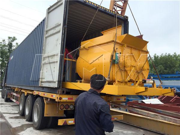 YHZS25 concrete plant exported
