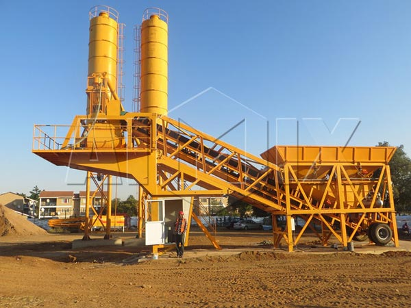 AJY35 mini concrete batch plant for sale