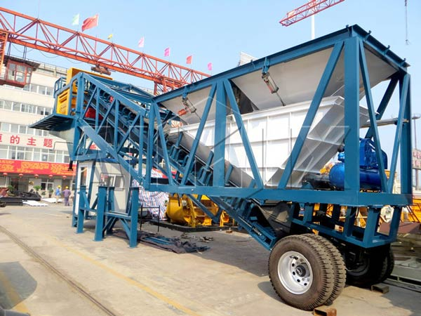 AJY50 mini concrete batch plant for sale