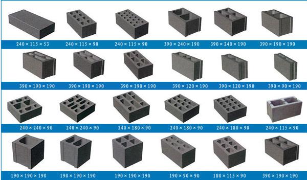 concrete block types