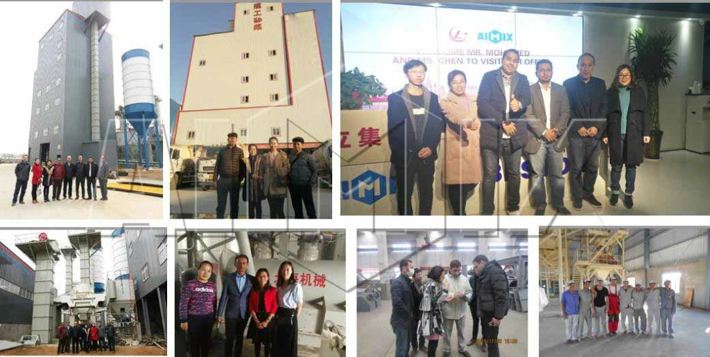 customer visit our dry mortar plant