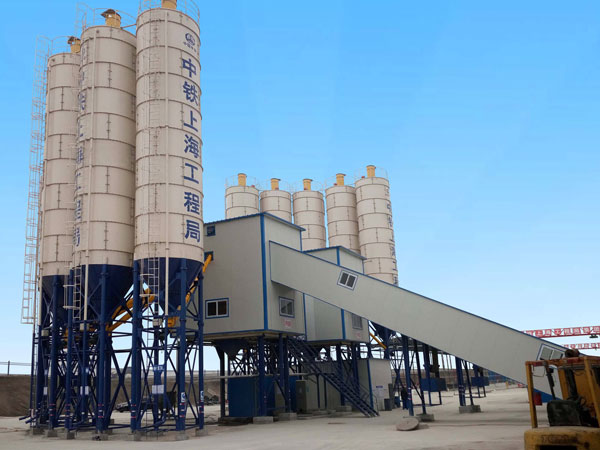 AJ180 belt type concrete batching plant