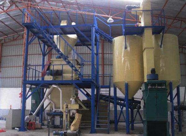 workshop type dry mortar plant