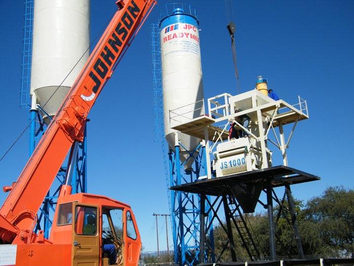 HZS60 concrete mixing plant in Botswana