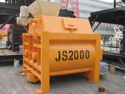 JS twin shaft concrete mixer