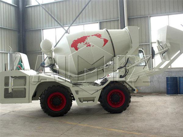 1.2m3 self loading concrete drum mixer