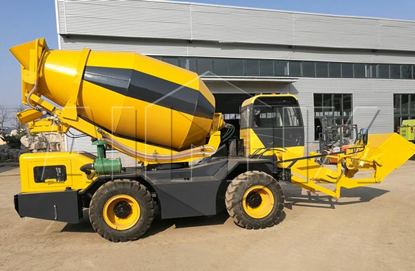 3.5cbm mobile concrete mixer