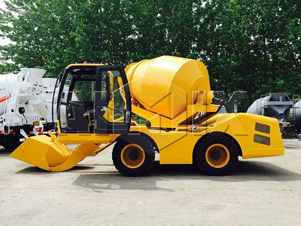 3.5m3 self loading concrete drum mixer