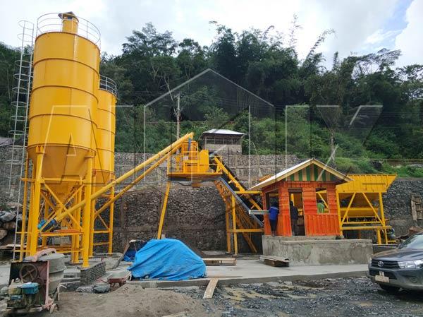 Aimix concrete plant in Indonesia