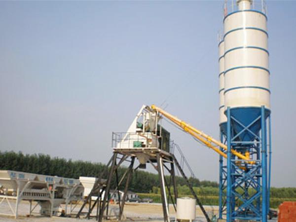 HZS25 skip hoist concrete plant