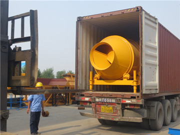 drum concrete mixers exported