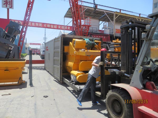 JS750 concrete mixer export