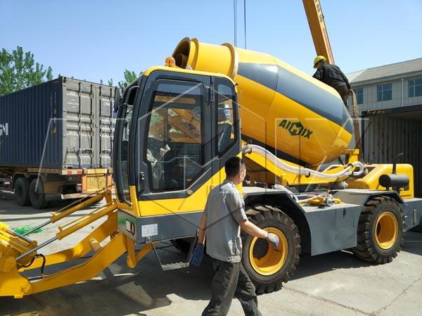 3.5m3 self loading concrete mixer truck