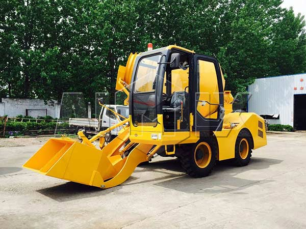 4.0 self loading concrete mixer truck
