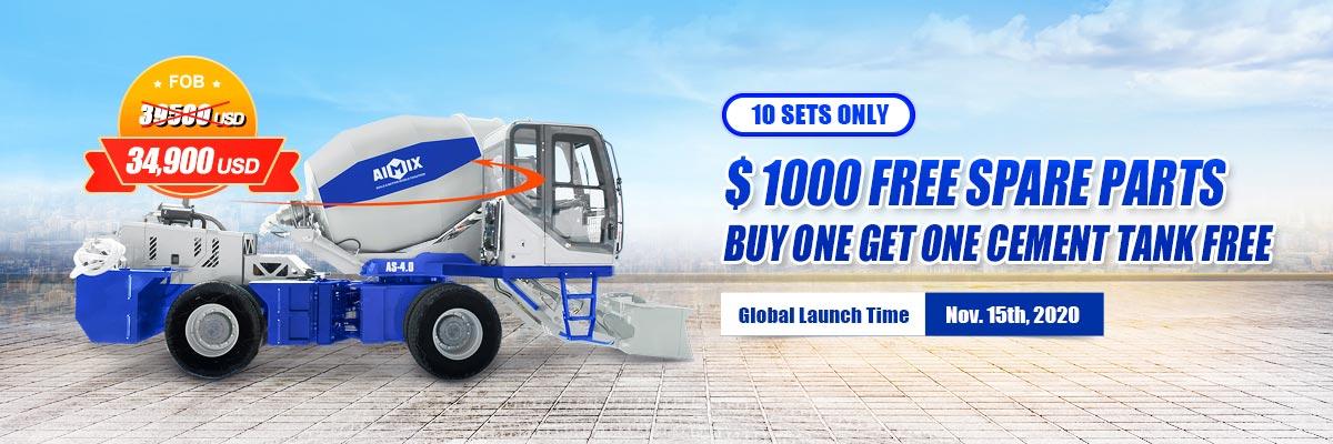 AS4.0 self loading diesel concrete mixer year end big sale