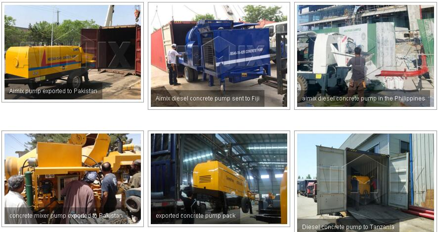 Aimix concrete pumps in oversea countries