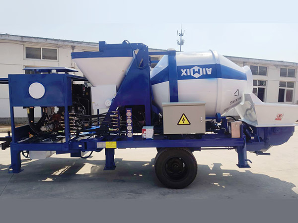aimix ABJZ30C concrete mixer pump sent to Indonesia