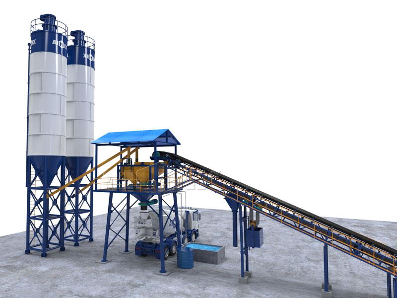 AJG60 dry batching plant