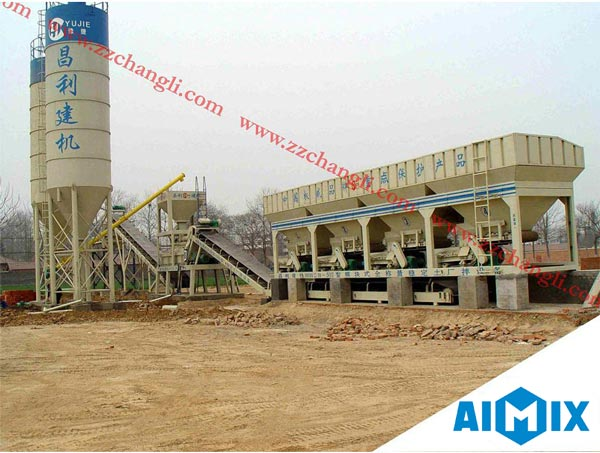 central mix concrete batching plant