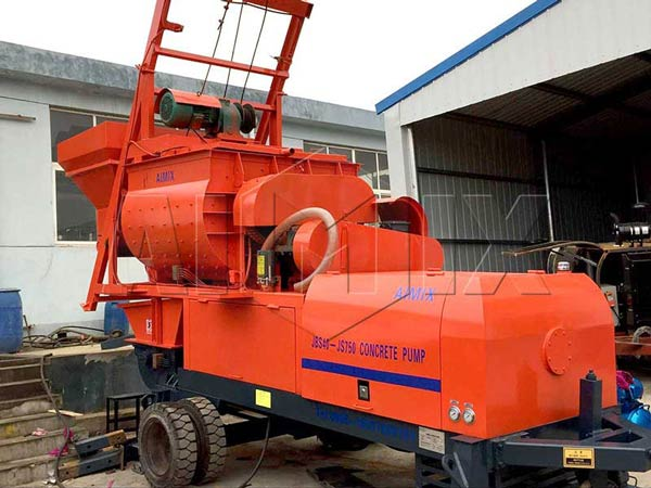 JBS40 concrete mixer export to Algeria