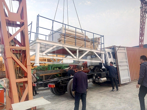 Aimix concrete mixer truck loaded