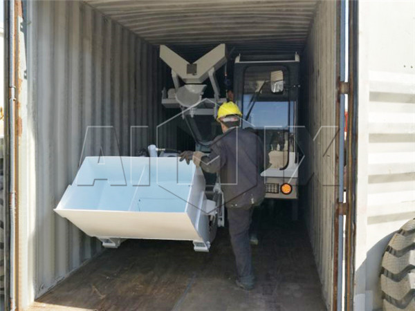 aimix self loading concrete mixer to be exported