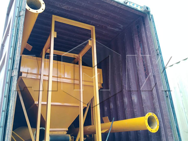 HZS35 concrete plant exported