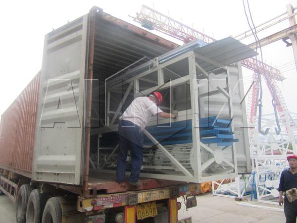 concrete plant exported