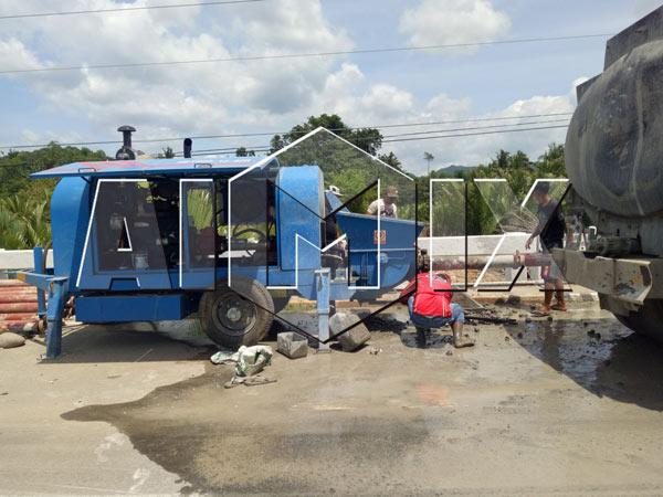 Aimix concrete pump in Vietnam