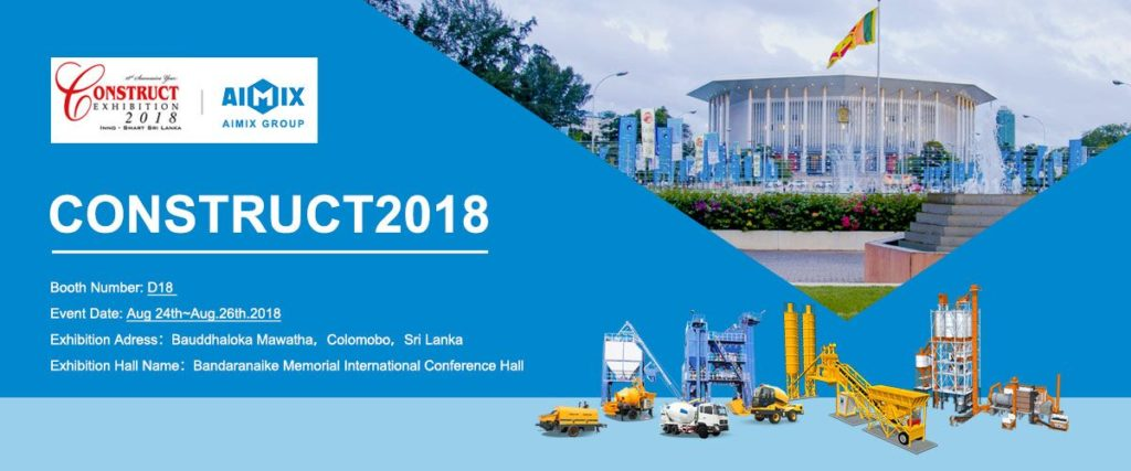 Aimix attend 2018 construct exhibition