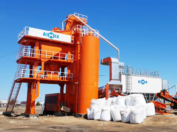 AImix asphalt plant in Kyrgyzstan