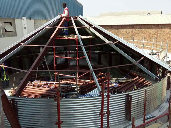 Aimix grain silo installed in Sri Lanka 1