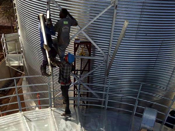 Aimix grain silo installed in Sri Lanka 2