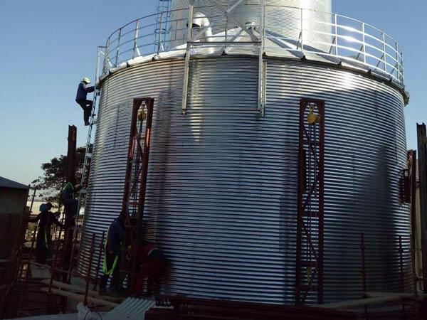 Aimix grain silo installed in Sri Lanka 3