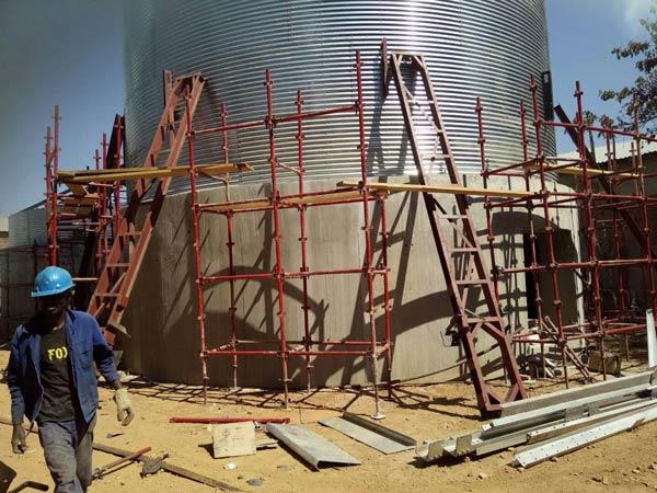 Aimix grain silo installed in Sri Lanka