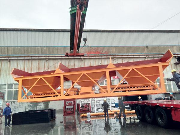 Aimix HZS75 concrete plant load