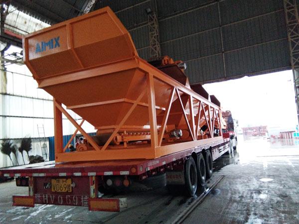 Aimix concrete plant loading