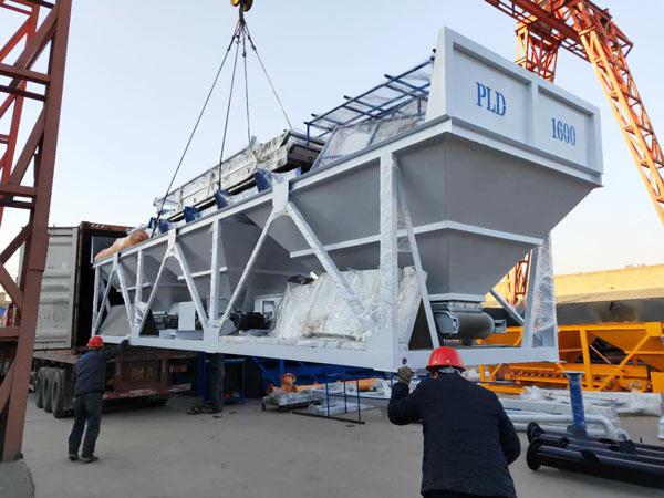 Aimix HZS50 concrete plant to Tajikistan 1