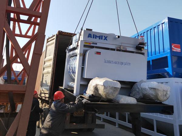 Aimix HZS50 concrete plant to Tajikistan 4