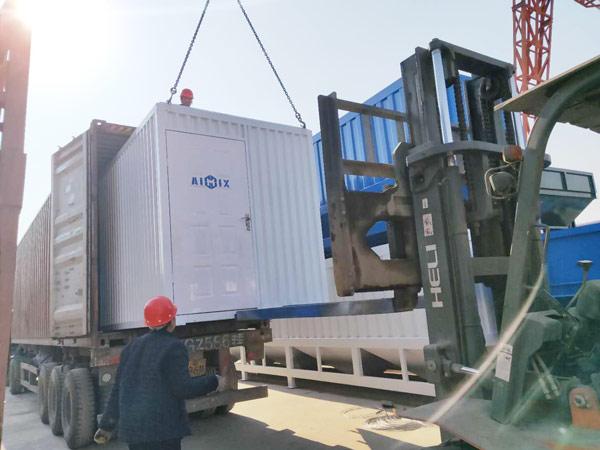 Aimix HZS50 concrete plant to Tajikistan 5