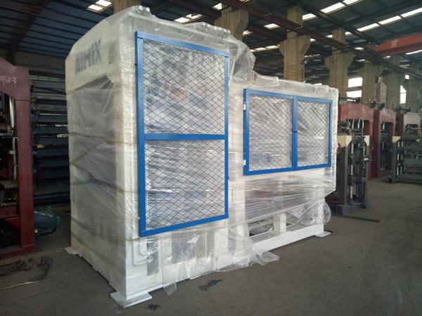 Aimix concrete block machine exported to Dominica 1
