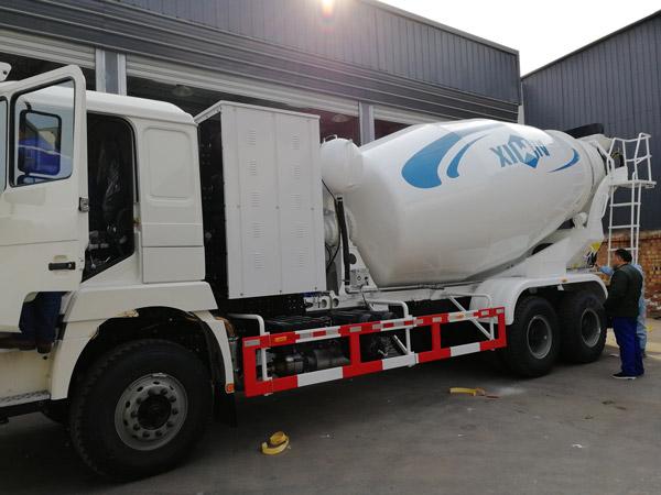 Aimix concrete mixer truck to Uzbekistan 1