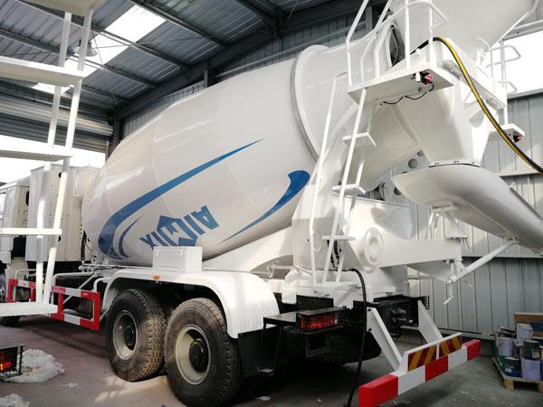 Aimix concrete mixer truck to Uzbekistan 3