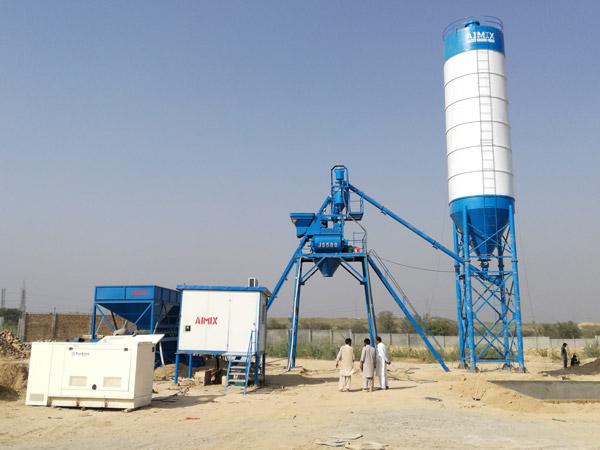 Aimix HZS25 concrete plant in Pakistan