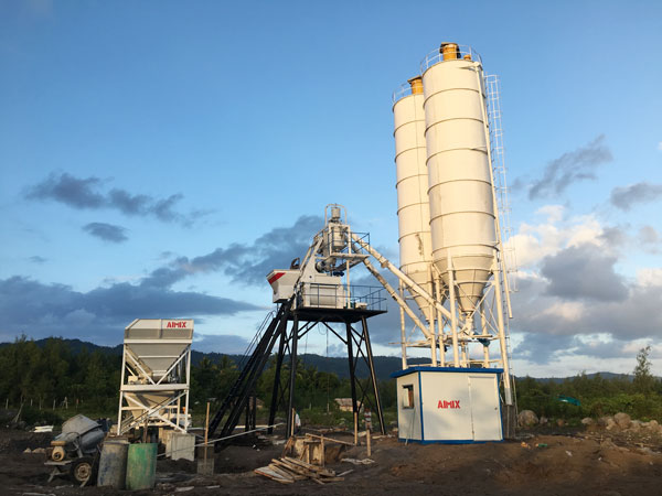 Aimix HZS50 concrete plant in the Philippines 2