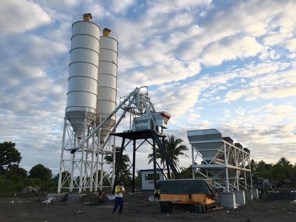 Aimix HZS50 concrete plant in the Philippines