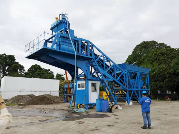 Aimix YHZS35 concrete plant in the Philippines 2