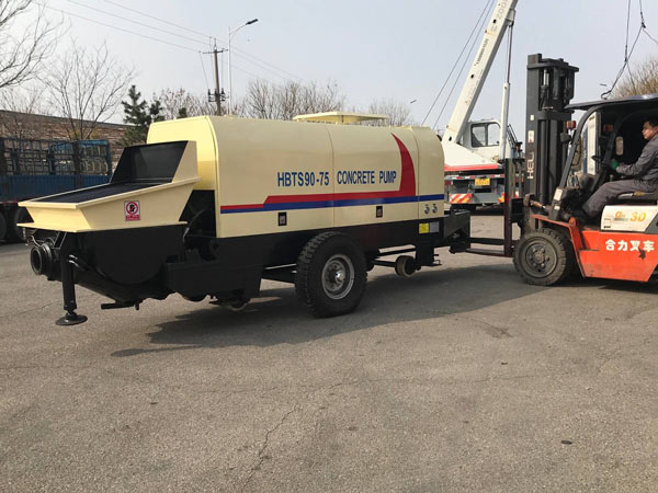 Aimix HBTS90 concrete pump to Korea 2